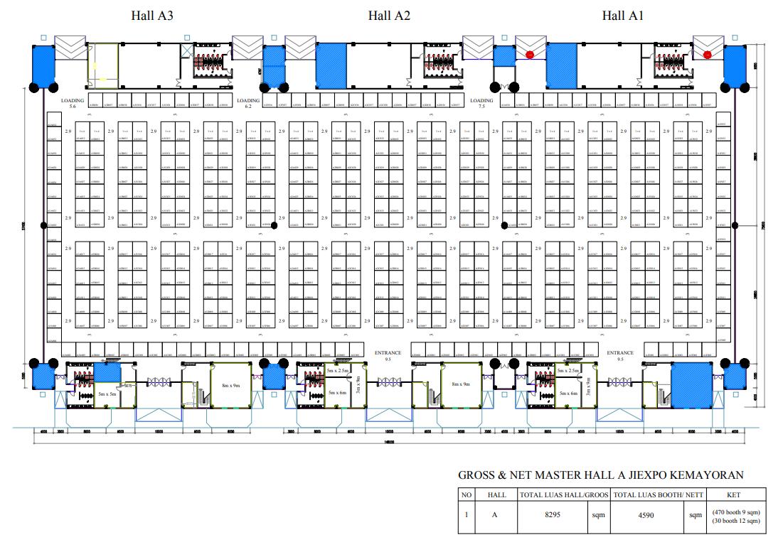 Indonesia Pharmaceutical Expo Exhibition Floor Plan